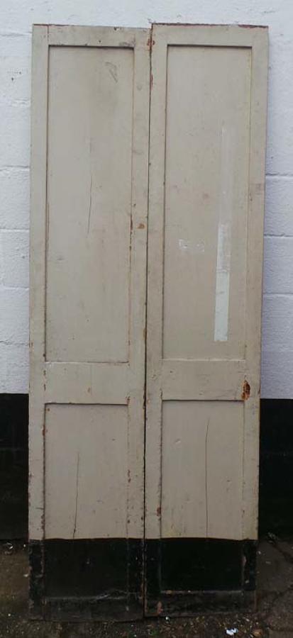 DP0181 FANTASTIC PAIR OF TALL VICTORIAN PINE DOORS