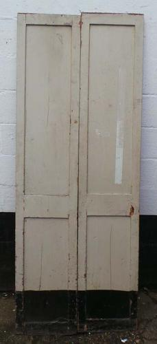 DP0181 FANTASTIC PAIR OF TALL VICTORIAN PINE DOORS