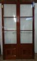 DP0183 LOVELY PAIR OF GLAZED VICTORIAN STYLE HARDWOOD DOORS - picture 2