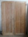 DP0209 LOVELY PAIR OF EDWARDIAN PINE PLANKED DOORS - picture 1