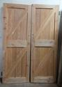 DP0209 LOVELY PAIR OF EDWARDIAN PINE PLANKED DOORS - picture 2