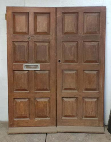DP0216 LOVELY PAIR OF EDWARDIAN STYLE SOLID MAHOGANY DOORS
