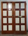 DP0216 LOVELY PAIR OF EDWARDIAN STYLE SOLID MAHOGANY DOORS - picture 2