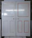 DP0217 PAIR OF UNUSUAL VICTORIAN PINE PANELLED DOORS - picture 1