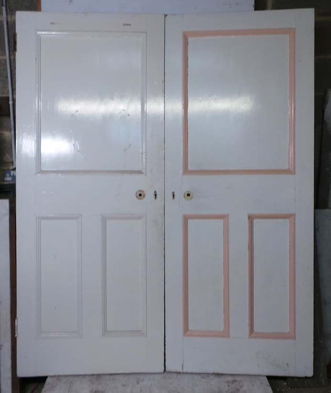 DP0217 PAIR OF UNUSUAL VICTORIAN PINE PANELLED DOORS