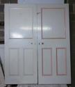 DP0217 PAIR OF UNUSUAL VICTORIAN PINE PANELLED DOORS - picture 2