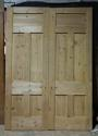 DP0221 LOVELY PAIR OF VICTORIAN PANELLED PINE DOORS - picture 1