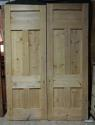 DP0221 LOVELY PAIR OF VICTORIAN PANELLED PINE DOORS - picture 2