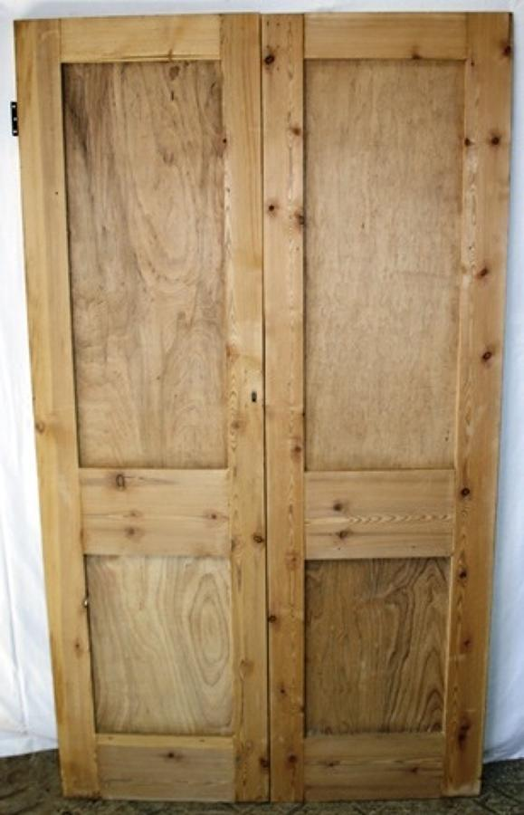 DP0226 A Pair of Victorian Pine Doors, suitable for internal use.
