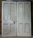 DP0219 LOVELY PAIR OF VICTORIAN PANELLED PINE DOORS - picture 1