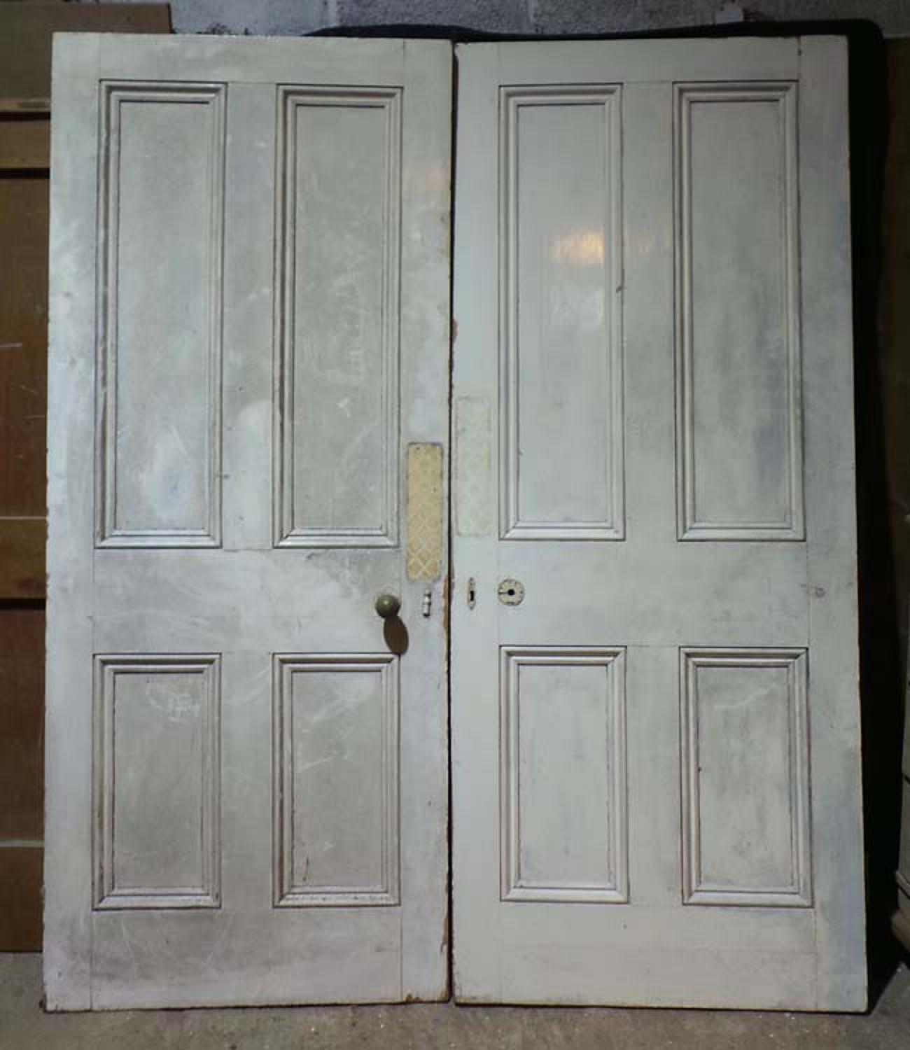 DP0219 LOVELY PAIR OF VICTORIAN PANELLED PINE DOORS