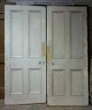 DP0219 LOVELY PAIR OF VICTORIAN PANELLED PINE DOORS - picture 2