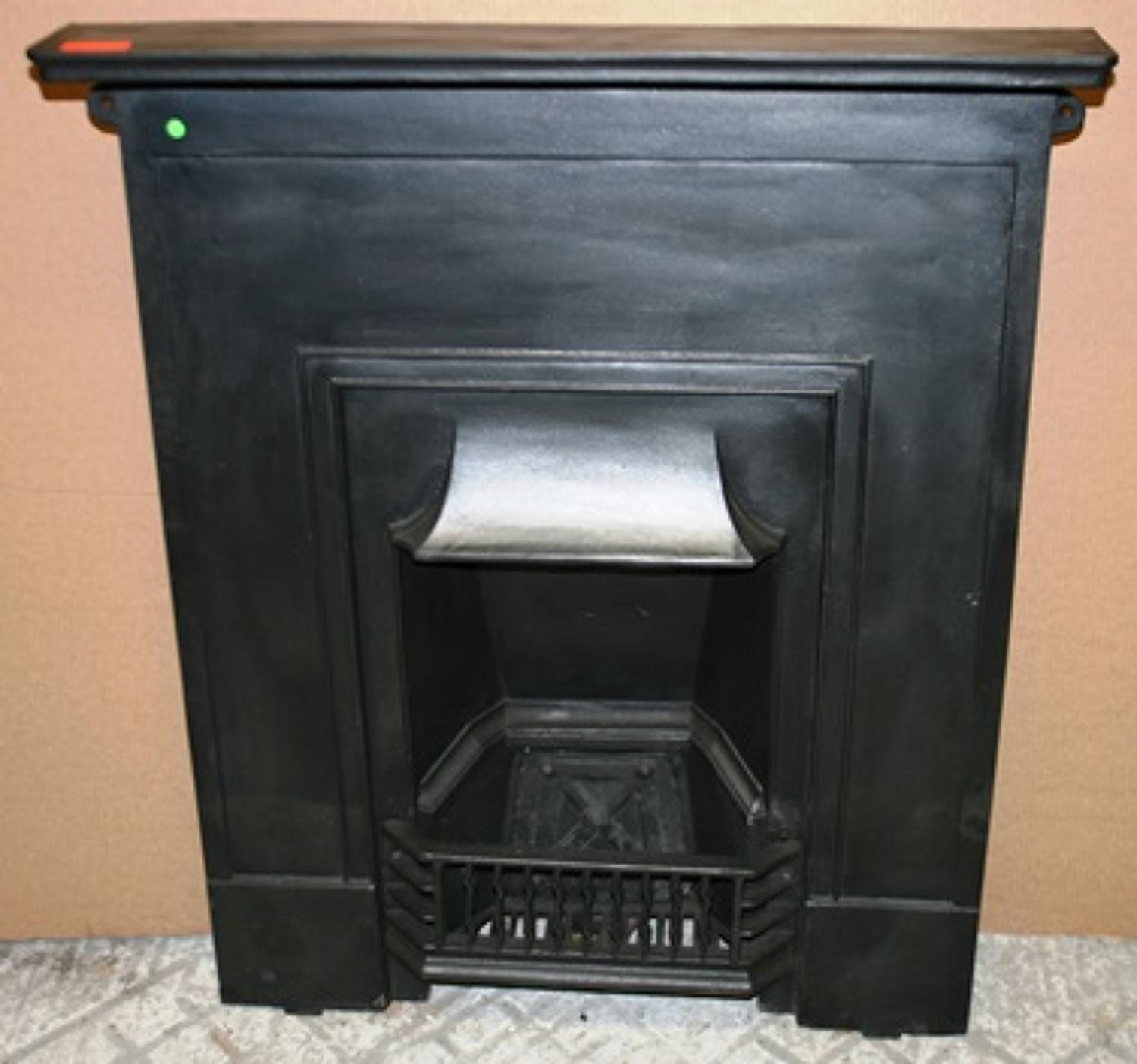 FC0010 A Reclaimed Cast Iron Art Deco Combination Fire c.1920
