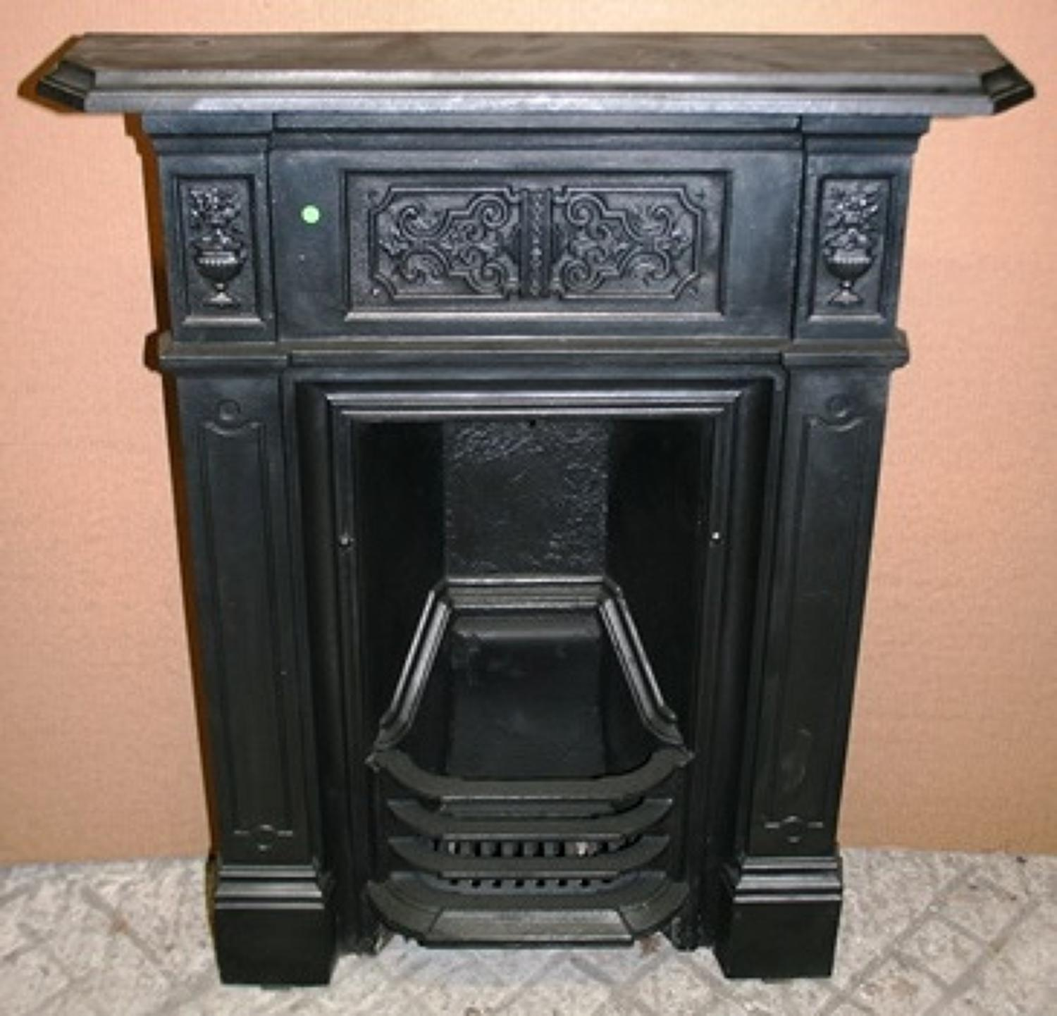 FC0012 A Victorian Cast Iron Combination Bedroom Fireplace