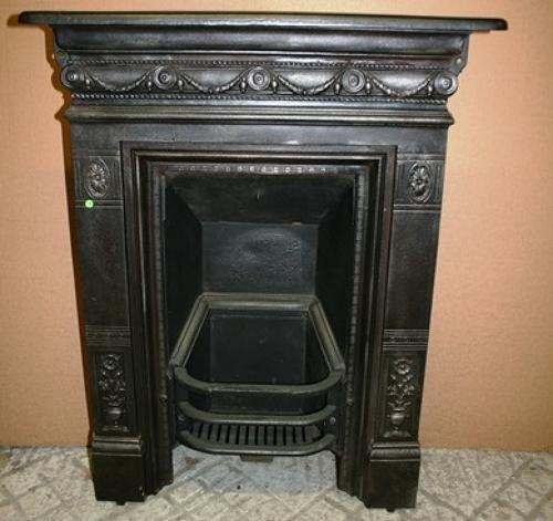FC0013 An Attractive Reclaimed Cast Iron Combination Bedroom Fireplace