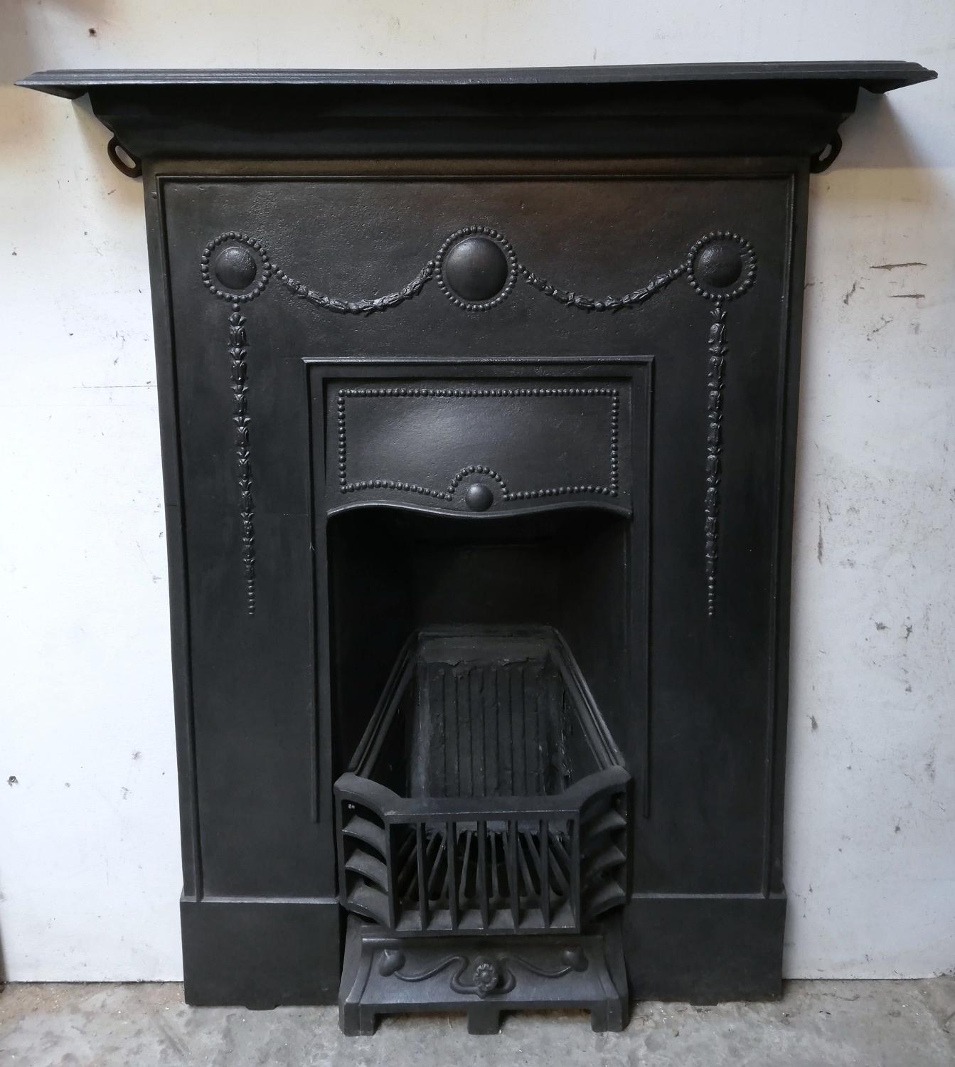 FC0020 An Attractive 1920's Cast Iron Combination Bedroom Fireplace