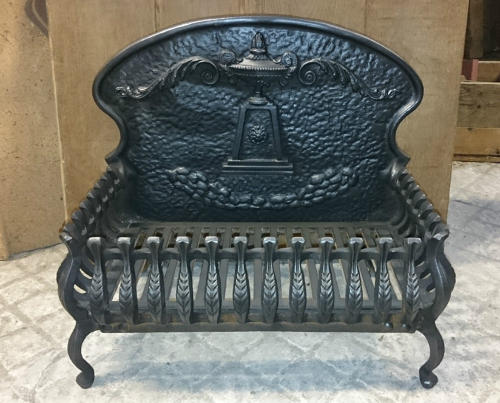 FB0009 A Reclaimed Firebasket with Integral Fire Back for Light Use
