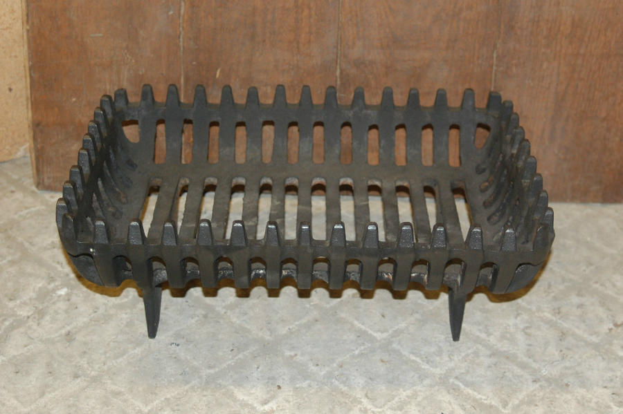FB0015 A Reclaimed Cast Iron Freestanding Fire Basket