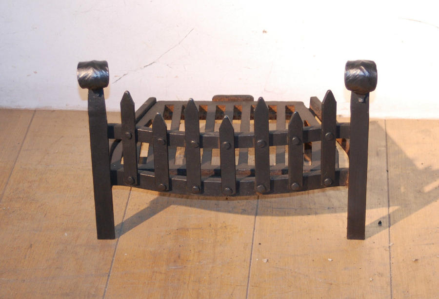 FB0019 A Decorative Cast Iron Fire Stool with Blacksmith-made Detail