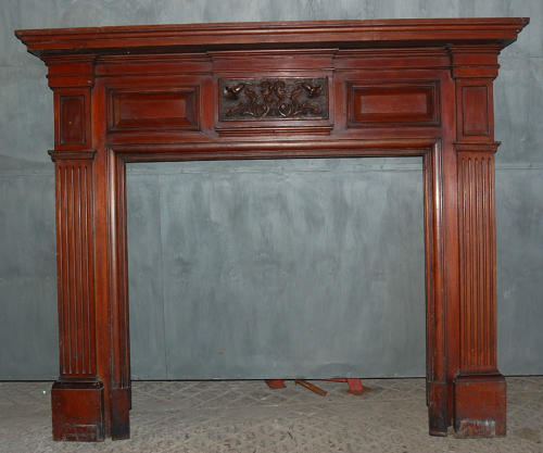 FS0014 A Large Edwardian Formal Carved Mahogany Fire Surround