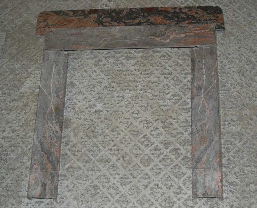 FS0019 A Pretty Reclaimed Pink Marble Fire Surround