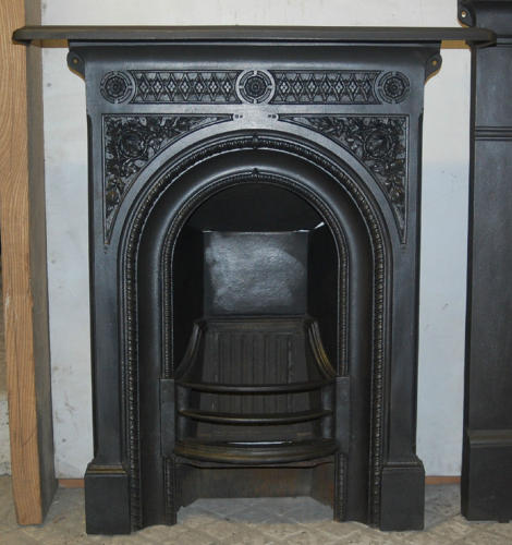 FC0023 A Victorian Cast Iron Combination Bedroom Fireplace