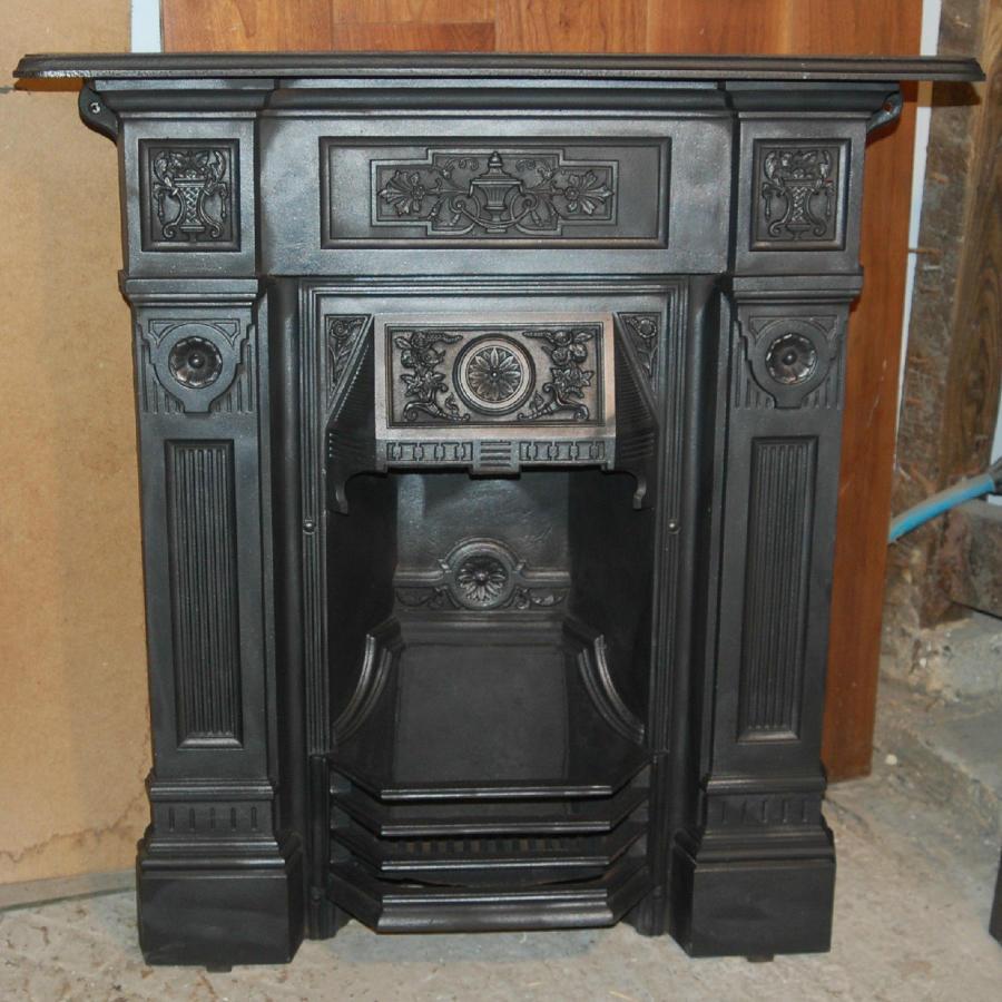 FC0025 A Pretty Victorian Cast Iron Combination Fire for Decorative Us