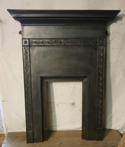 FC0026 A Decorative Edwardian Cast Iron Bedroom Combination Fire Front