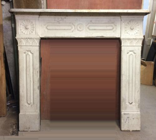 FS0024 A Large Decorative Victorian Cast Iron Fire Surround