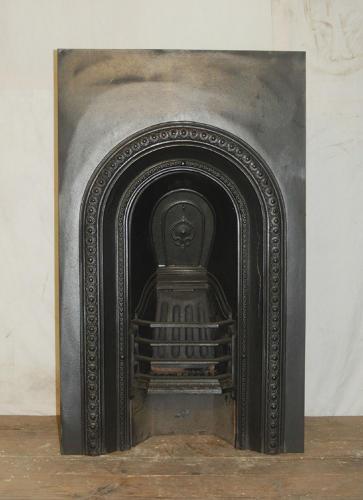 FI0009 An Attractive Reclaimed Cast Iron Bedroom Fire Insert