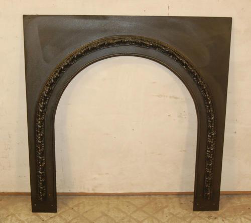 FT0007 A Pretty Antique Arched Cast Iron Fire / Woodburner Trim