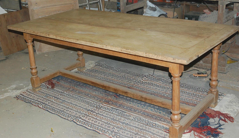 Fantastic Rustic Oak Dining Table Reclaimed ref 775