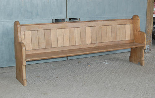 An Antique Oak Pew with One Carved End Gothic Style C.1910 Ref 865