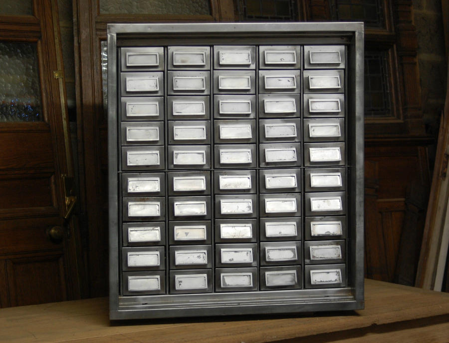 A Refurbished Polished Metal Drawer Unit Industrial Style ref 565