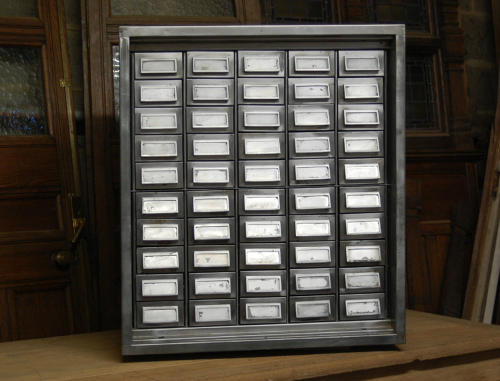 A Refurbished Polished Metal Drawer Unit Industrial Style ref 565