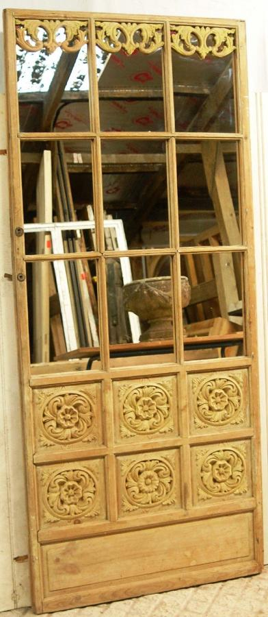 A Beautiful Decorative Hand Carved Pine Screen Mirror ref 898