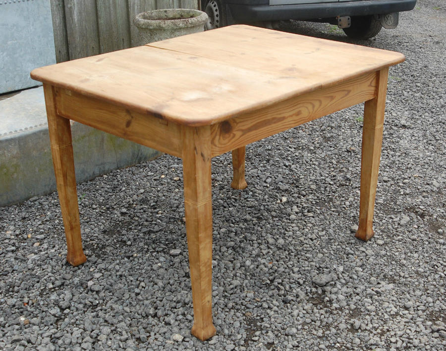 A Charming Rustic Reclaimed Swedish Extending Pine Table ref 732