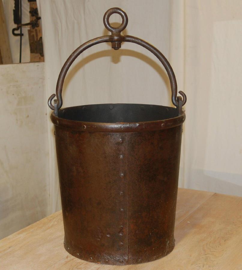 Victorian Blacksmiths Forge Metal Bucket ref 850