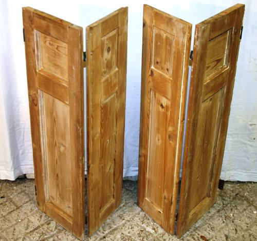 CS0009 A Pair of Georgian Stripped Pine Shutters w 4 Shutters