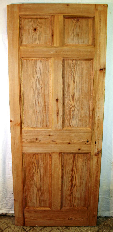 DB0617 A Victorian Pine, 6 panelled, Internal or External Door