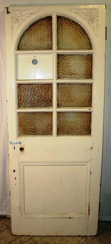 DB0619 A Late Victorian Pine Door for internal/external use