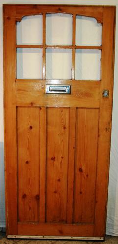 DE0723 An early Edwardian Pine Front Door