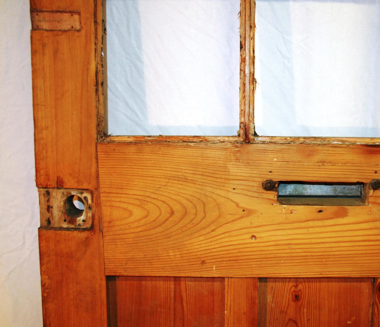 De0723 An Early Edwardian Pine Front Door In Edwardian Doors