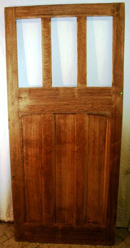 DE0731 A Fantastic Reclaimed Oak Door ready for Glazing