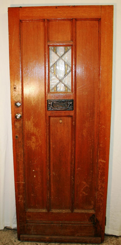 DE0734 An Arts & Crafts, Oak Cottage Door c.1930