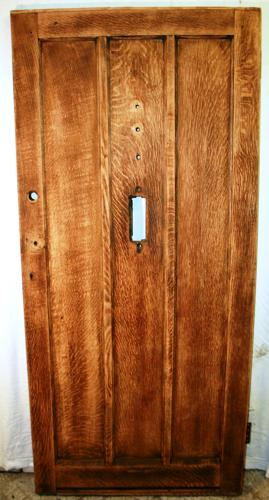 DE0736 A Reclaimed Oak Panelled Front Door