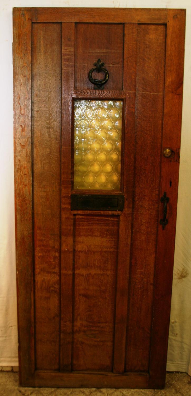 DE0740 An Oak Cottage Door with Central Window
