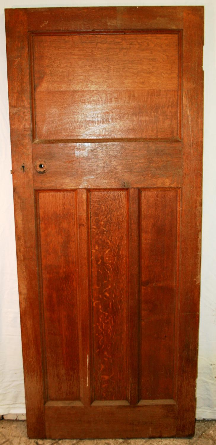 DI0647 A Solid Oak Edwardian Style Arts and Crafts Internal Door