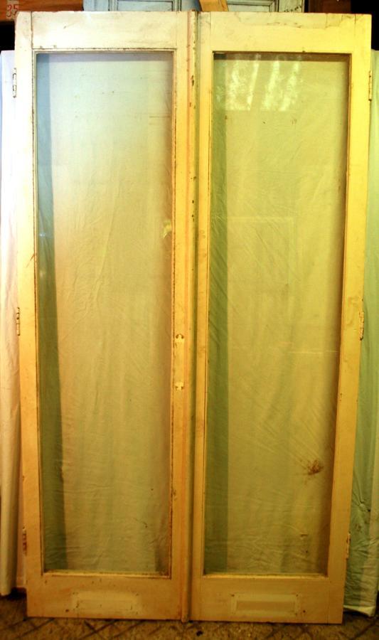 DO0229 A Pair of Tall, Glazed Pine Doors for External/Internal Use