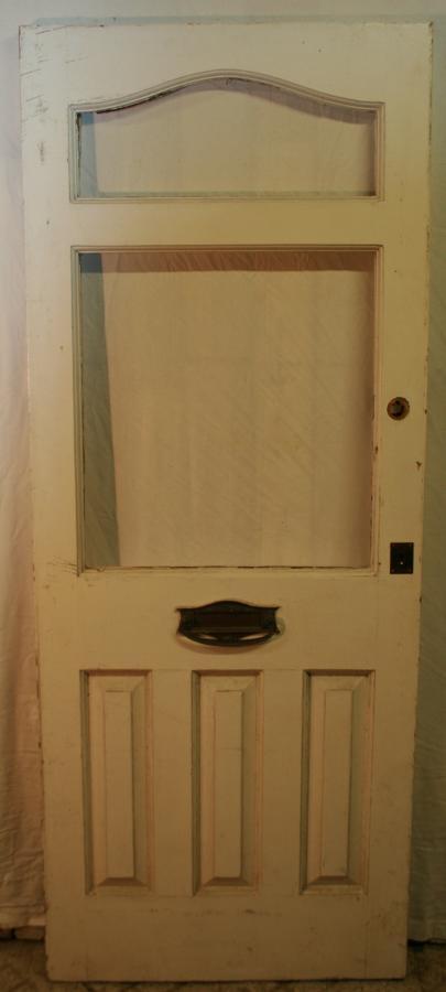 DE0729 An Edwardian Pine Front Door c.1920